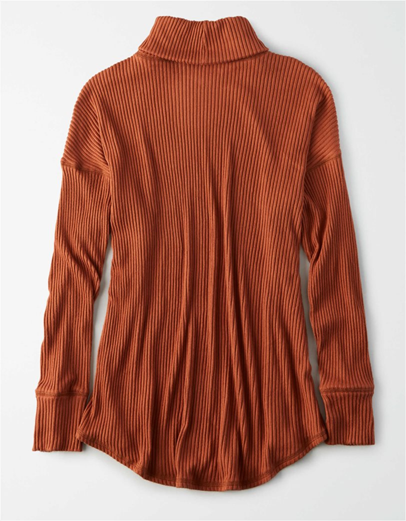 AE Long Sleeve Turtleneck T-Shirt Κεραμιδί 3