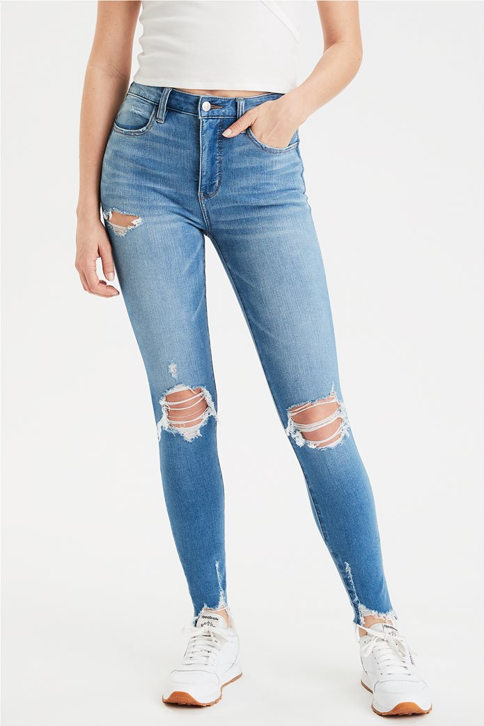 AE The Dream Jean Super High-Waisted Jegging Μπλε 0