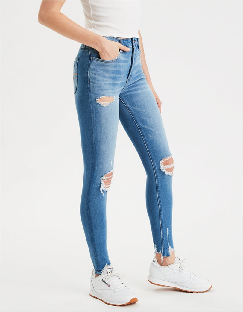 AE The Dream Jean Super High-Waisted Jegging Μπλε 1
