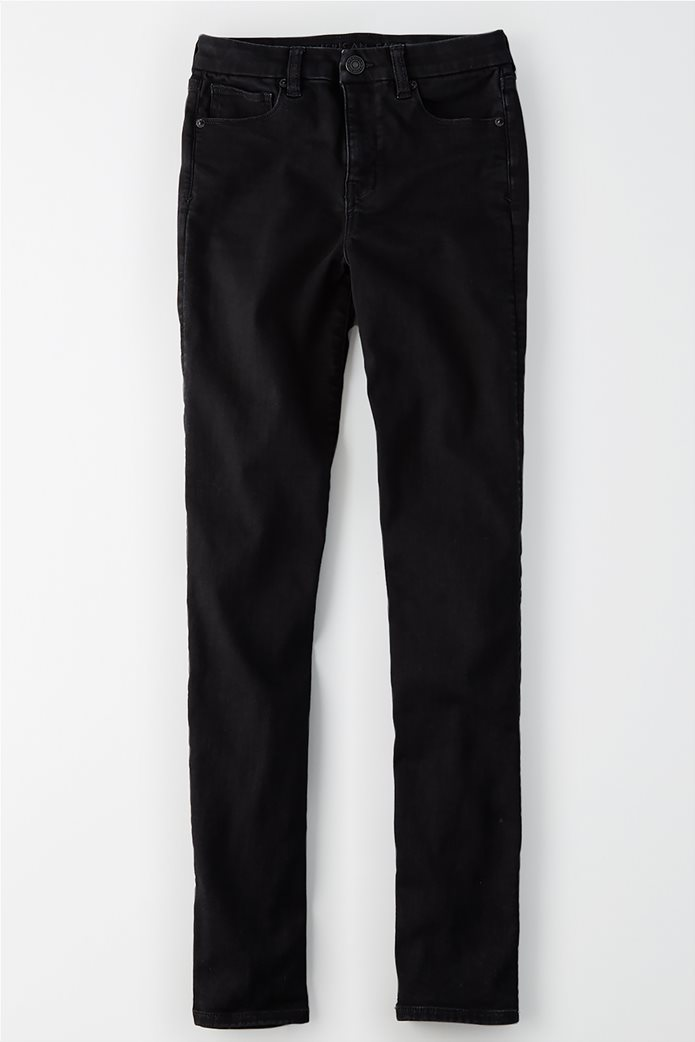 AE Ne(X)t Level Curvy High-Waisted Skinny Jean Μαύρο 0