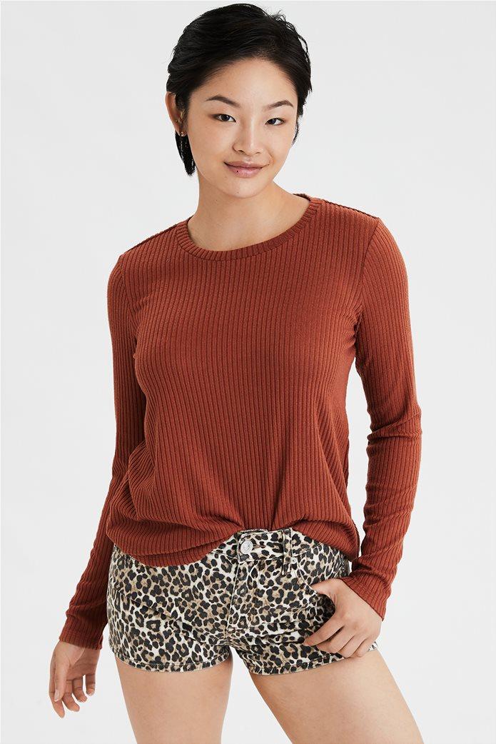 AE Soft Plush Ribbed Long Sleeve T-Shirt 0