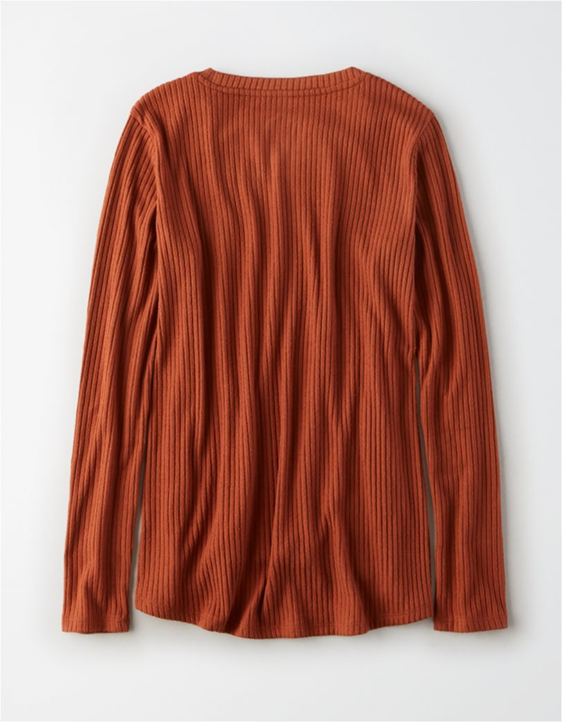 AE Soft Plush Ribbed Long Sleeve T-Shirt 3