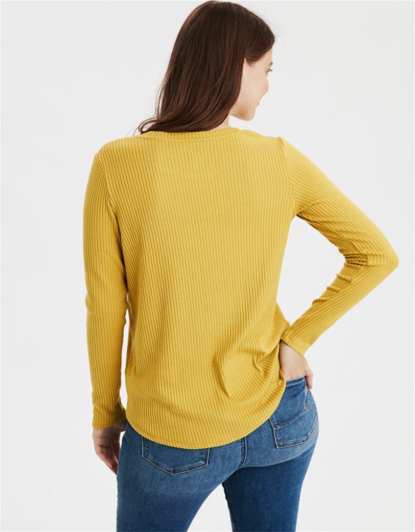 AE Soft Plush Ribbed Long Sleeve T-Shirt 1