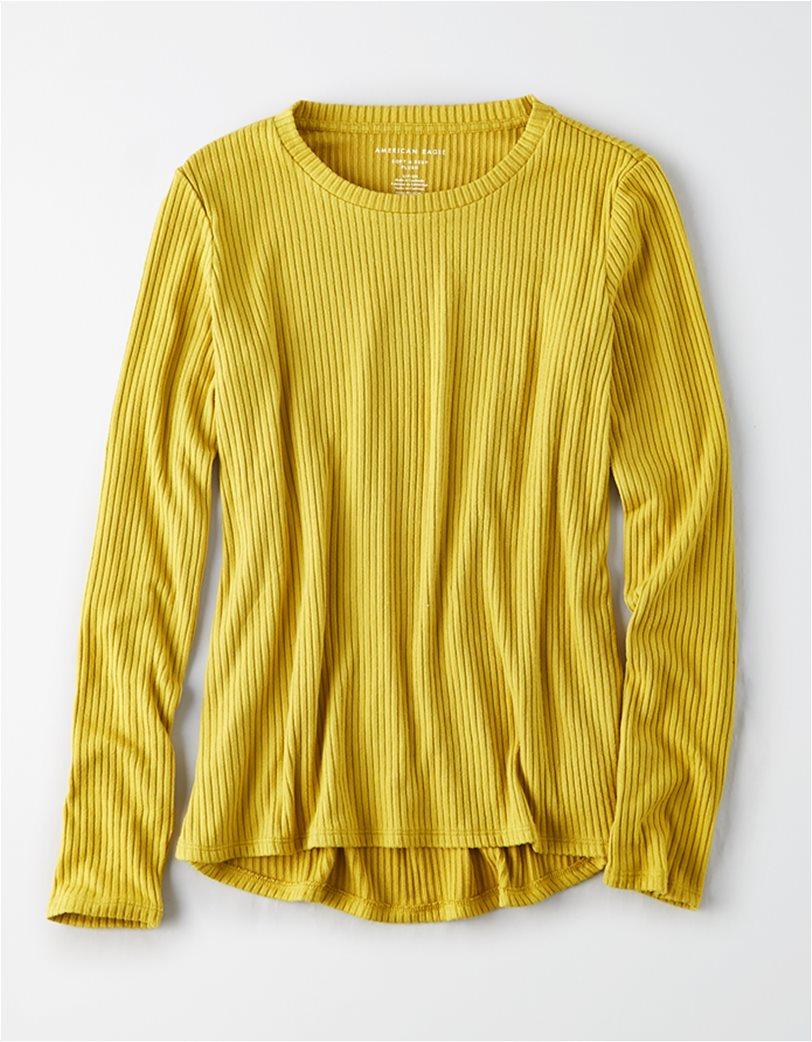 AE Soft Plush Ribbed Long Sleeve T-Shirt 2