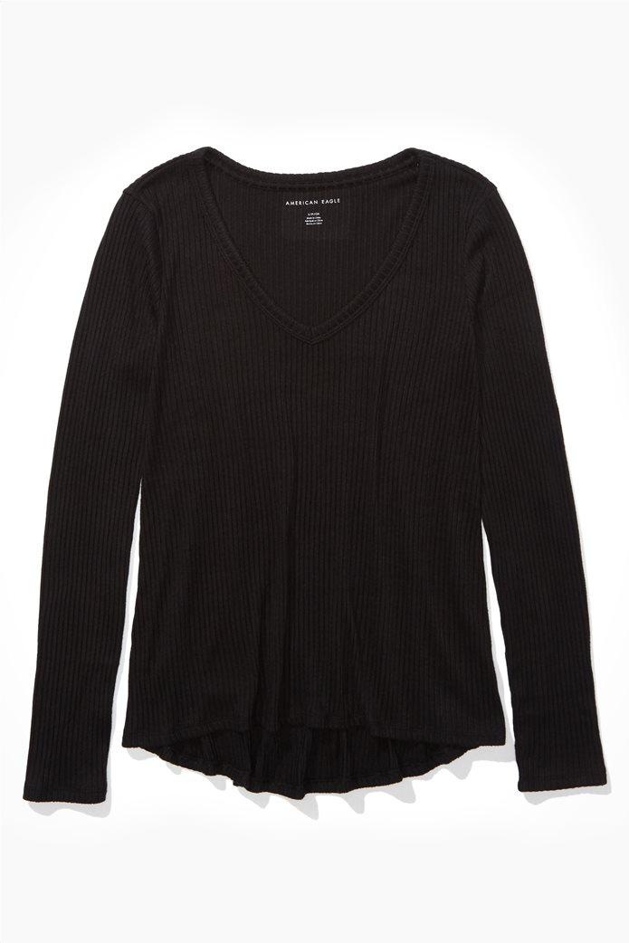 AE Long Sleeve V-Neck T-Shirt 0