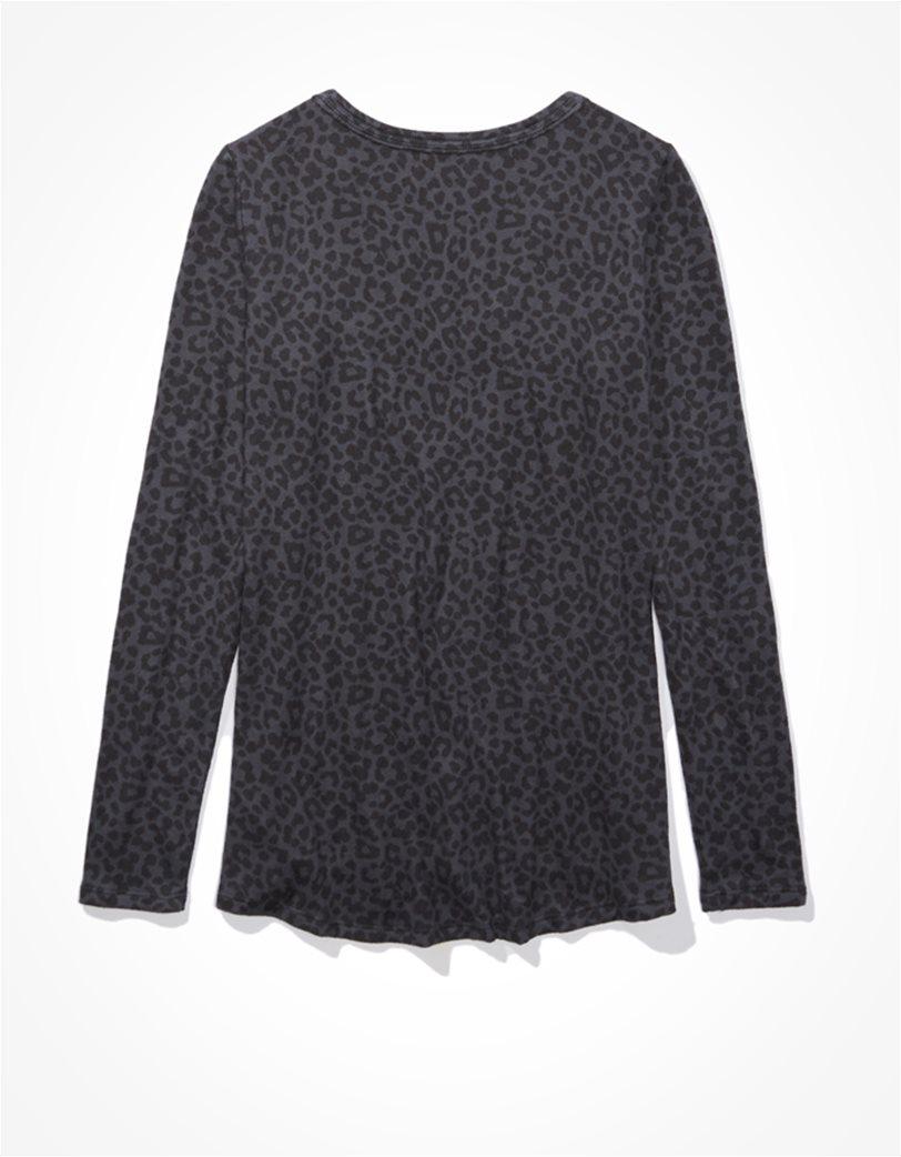 AE Plush Long Sleeve V-Neck T-Shirt 1