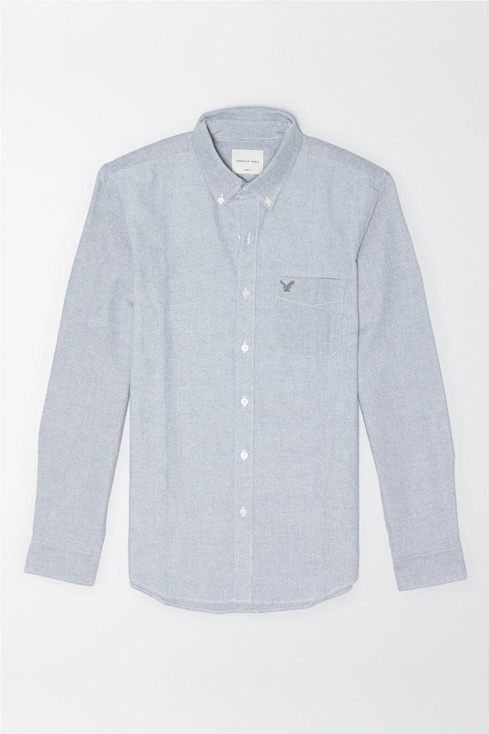AE Oxford Button Up Shirt Γκρι 0
