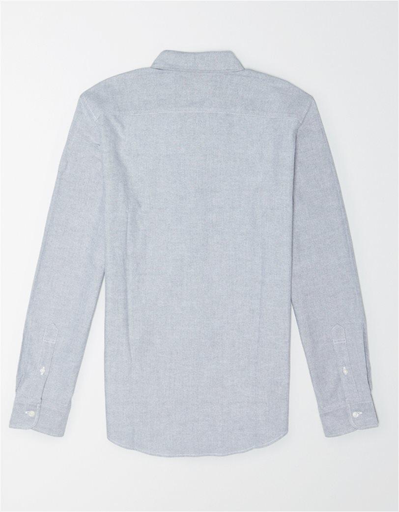 AE Oxford Button Up Shirt Γκρι 1