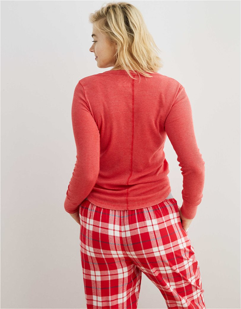 Aerie Long Sleeve Ribbed Henley T-Shirt 1