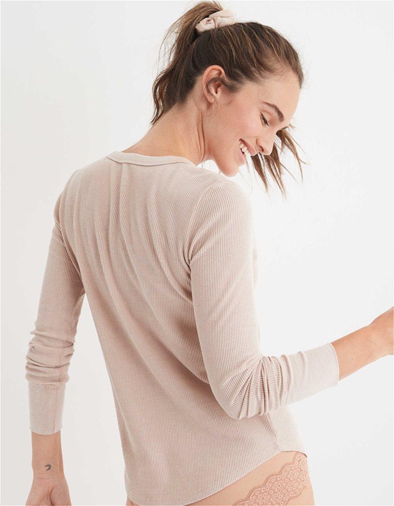 Aerie Waffle Henley Long Sleeve T-Shirt 1