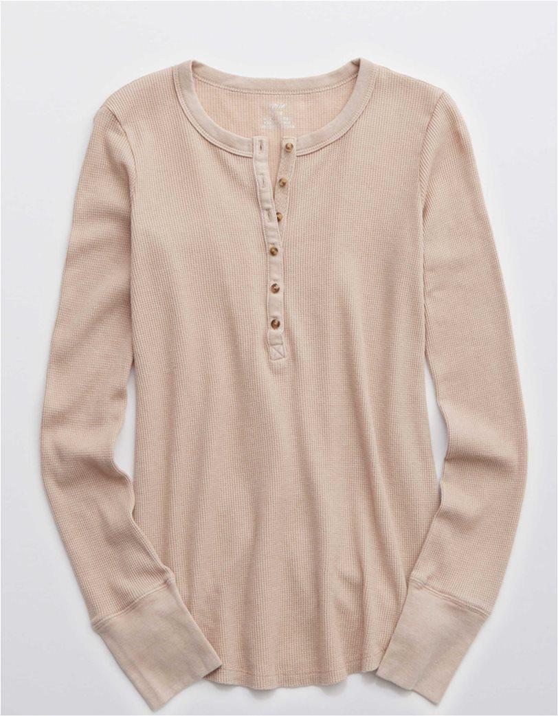 Aerie Waffle Henley Long Sleeve T-Shirt 2