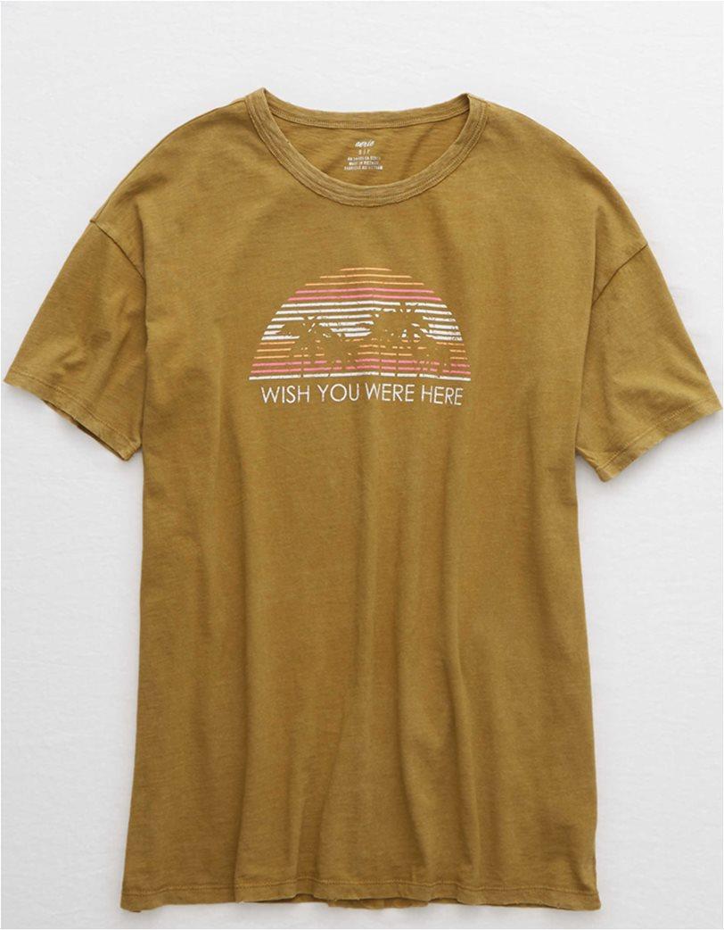 Aerie Boyfriend Distressed Oversized T-Shirt 2