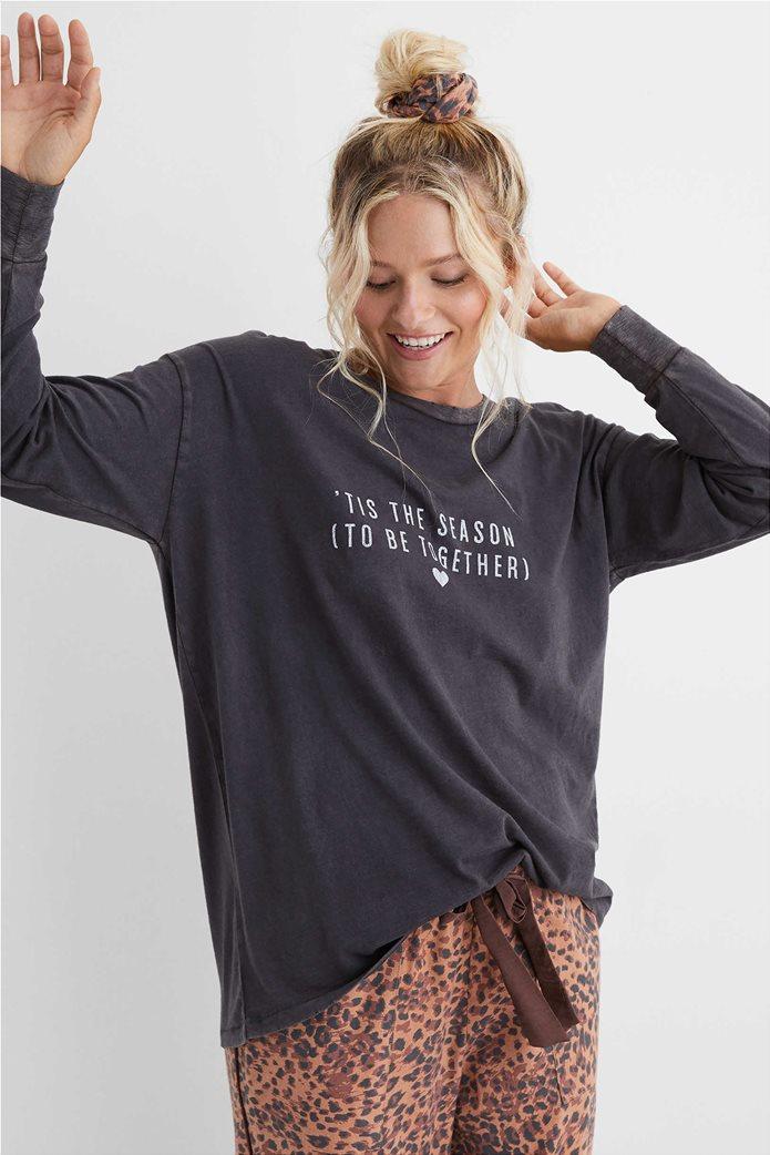 Aerie Long Sleeve Oversized Crewneck T-Shirt 0