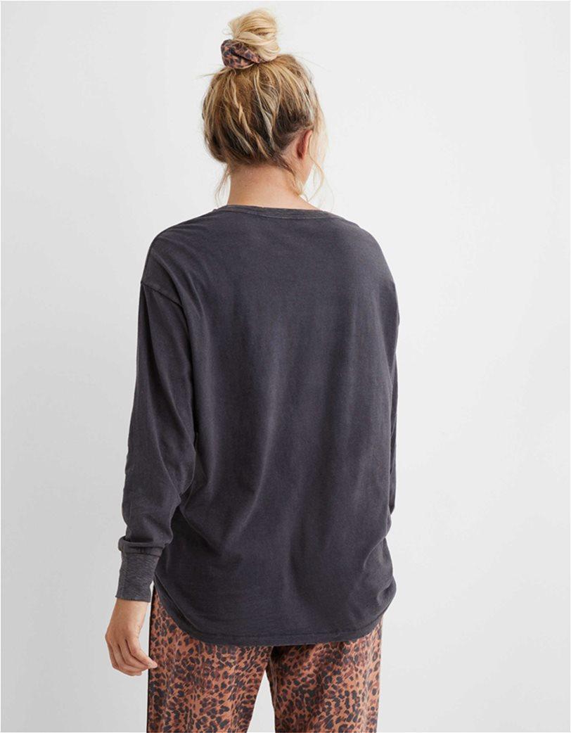 Aerie Long Sleeve Oversized Crewneck T-Shirt 1