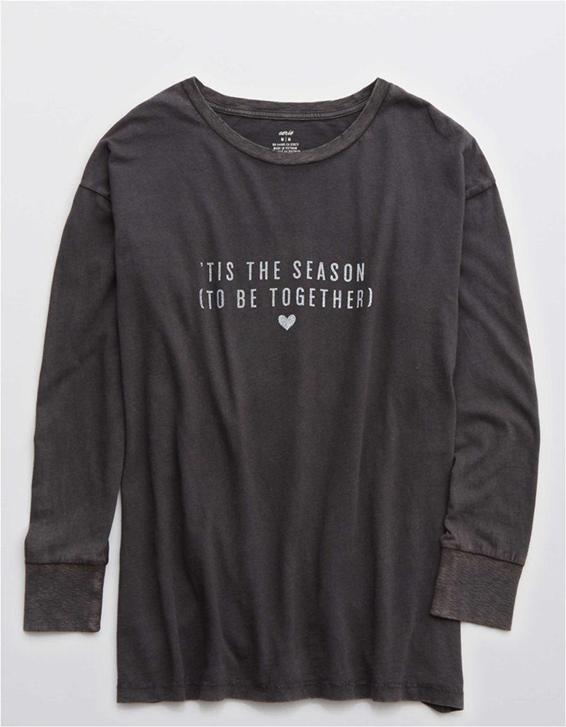Aerie Long Sleeve Oversized Crewneck T-Shirt 2
