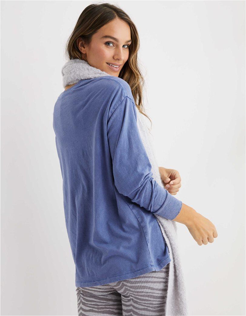Aerie Long Sleeve Oversized Crewneck T-Shirt Μπλε 1