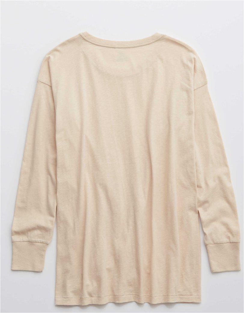 Aerie Long Sleeve Oversized Crewneck T-Shirt 3