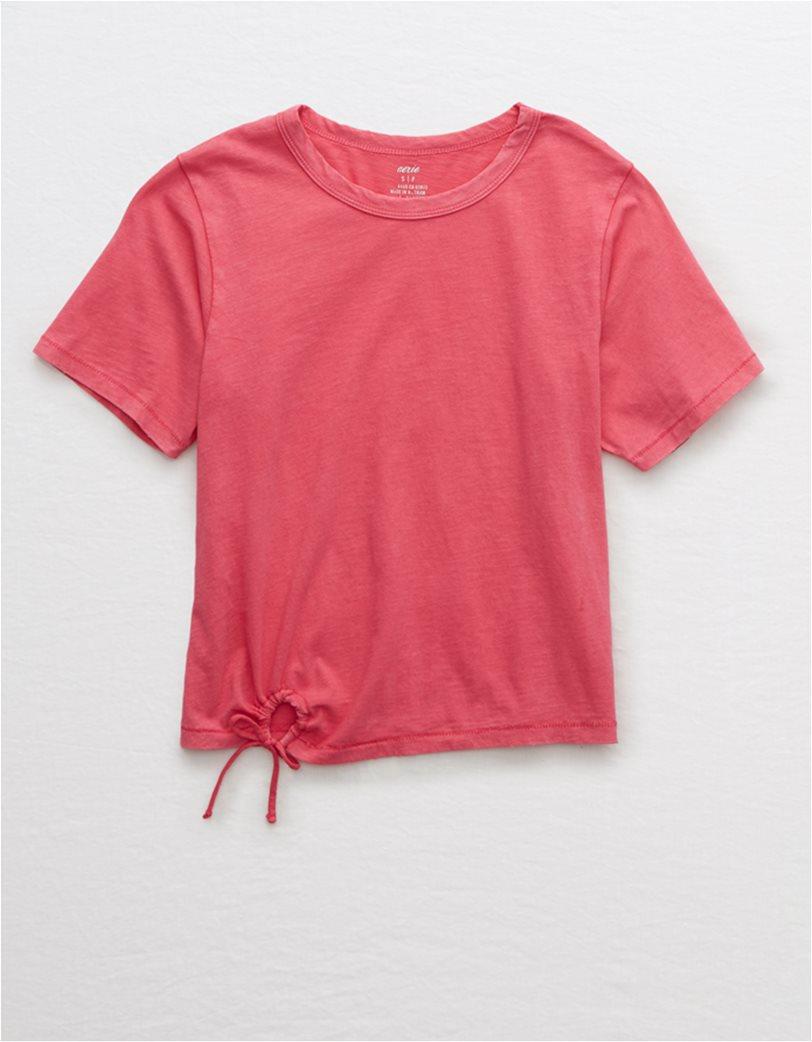 Aerie Vintage Tie T-Shirt Ροζ 2