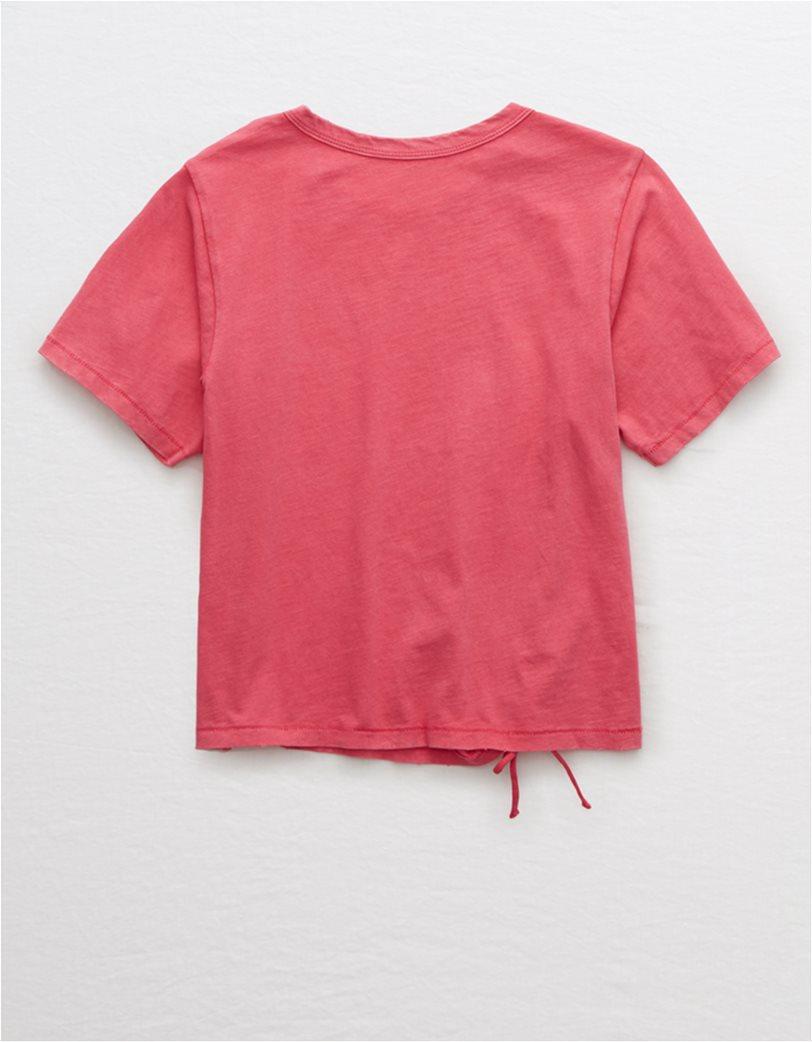 Aerie Vintage Tie T-Shirt Ροζ 3