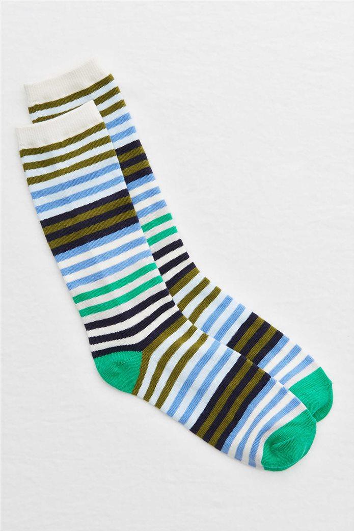 Aerie Striped Crew Socks Γαλάζιο 0