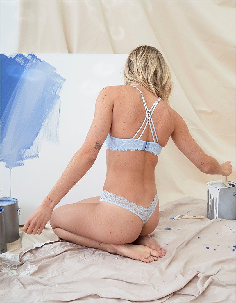 Aerie New Blooms Lace High Cut Thong Underwear Ανοιχτό Γαλάζιο 1