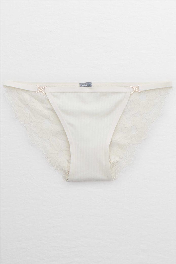 Aerie Ribbed String Bikini Underwear 0