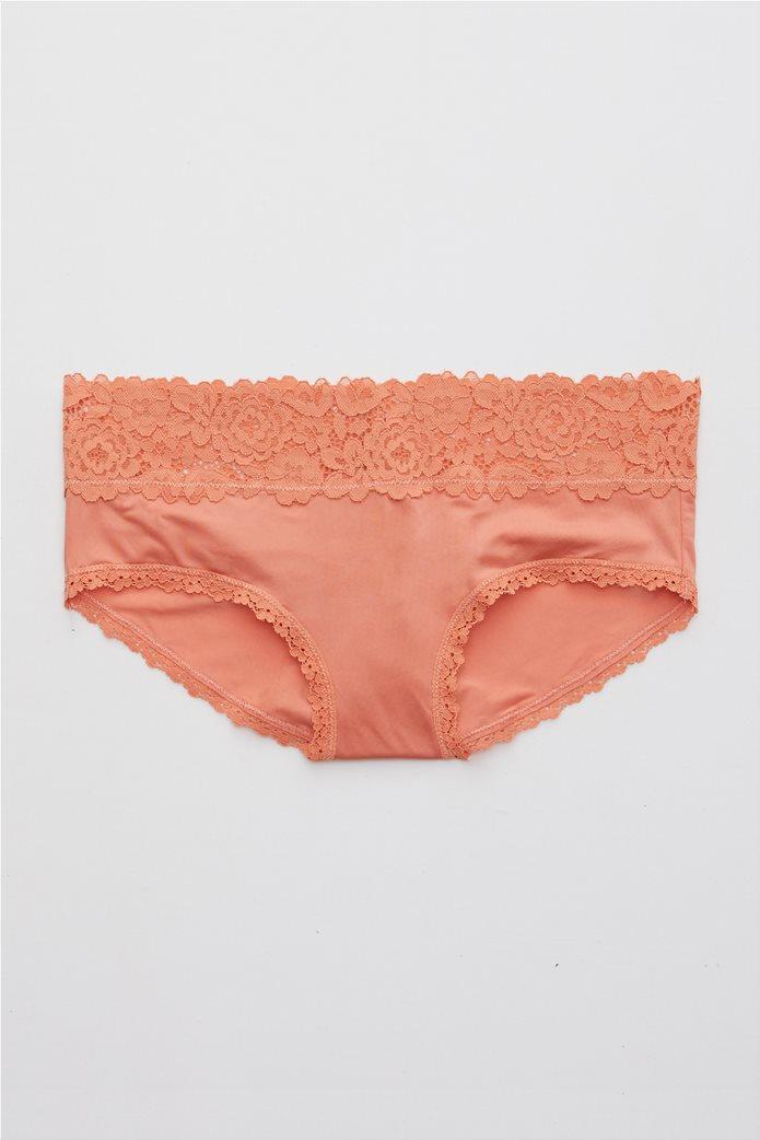 Aerie Bluegrass Lace Shine Boybrief Underwear Ροδακινί 0