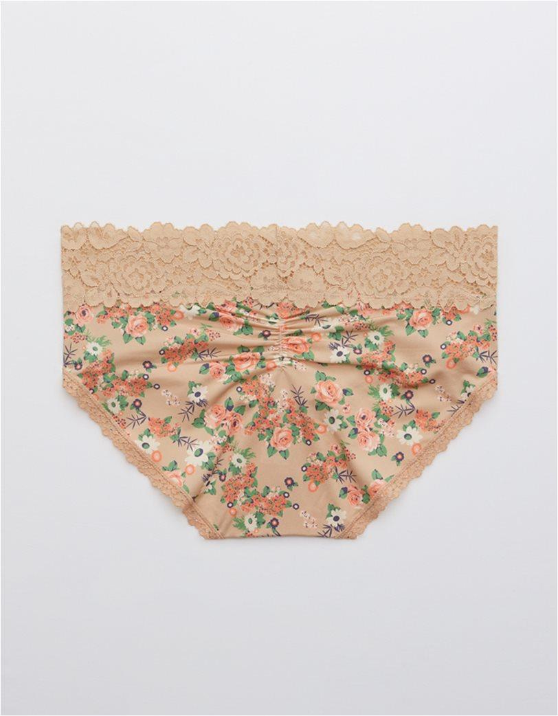 Aerie Bluegrass Lace Shine Boybrief Underwear 2