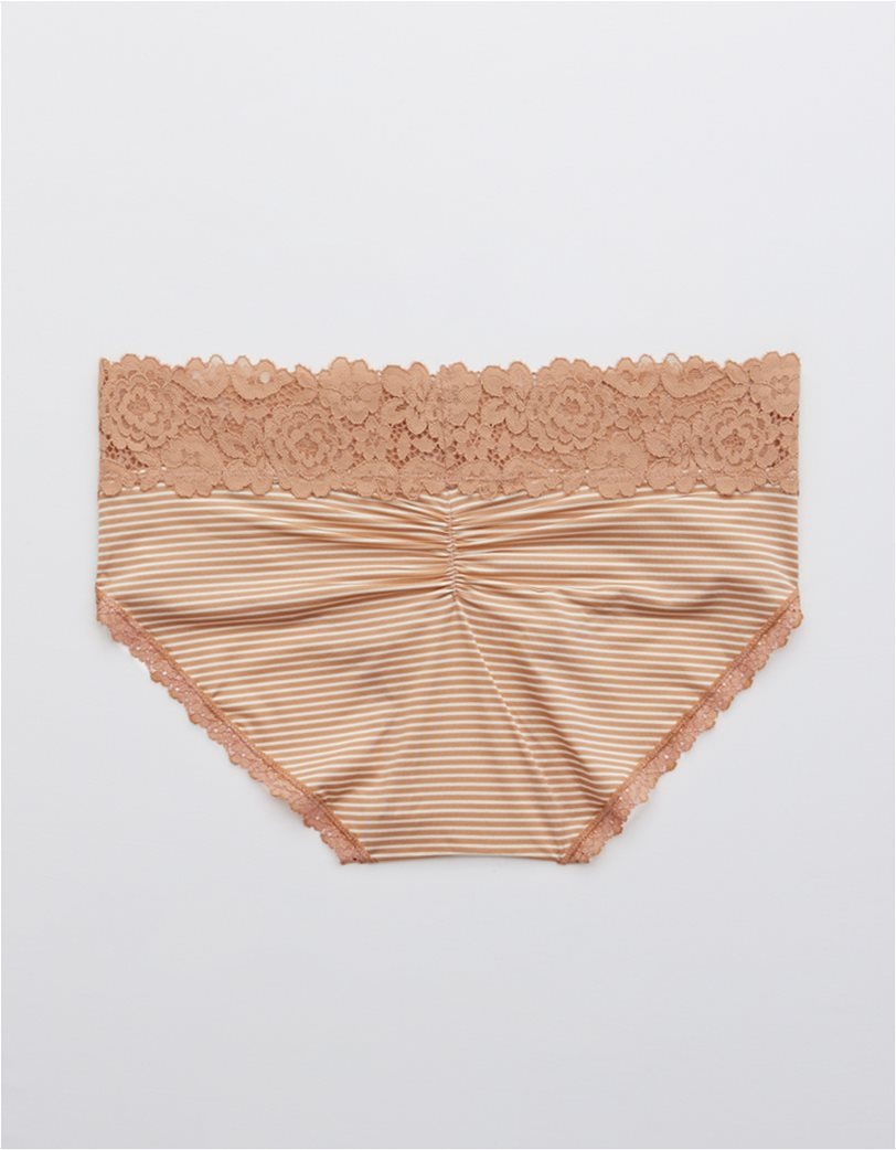 Aerie Bluegrass Lace Shine Boybrief Underwear 1