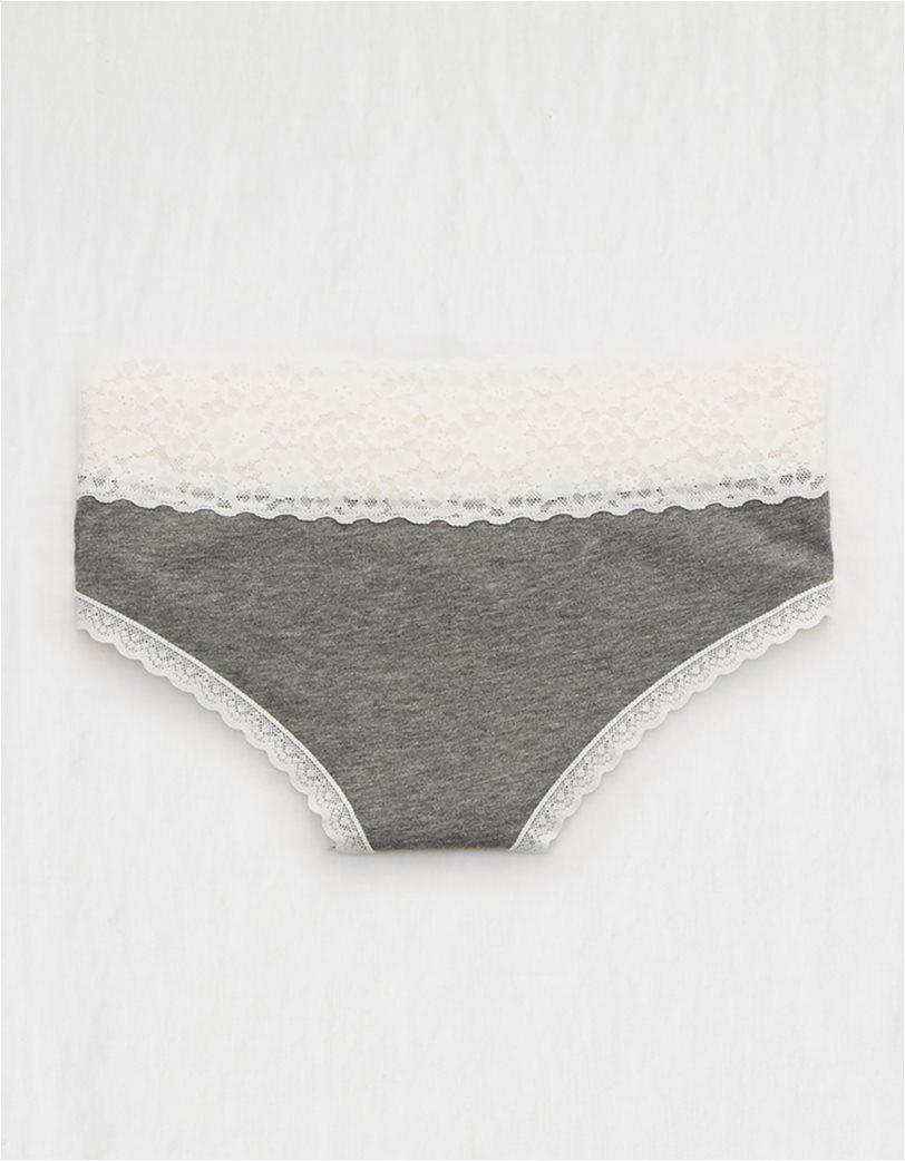 Aerie Cotton Cheeky Underwear Γκρι 1
