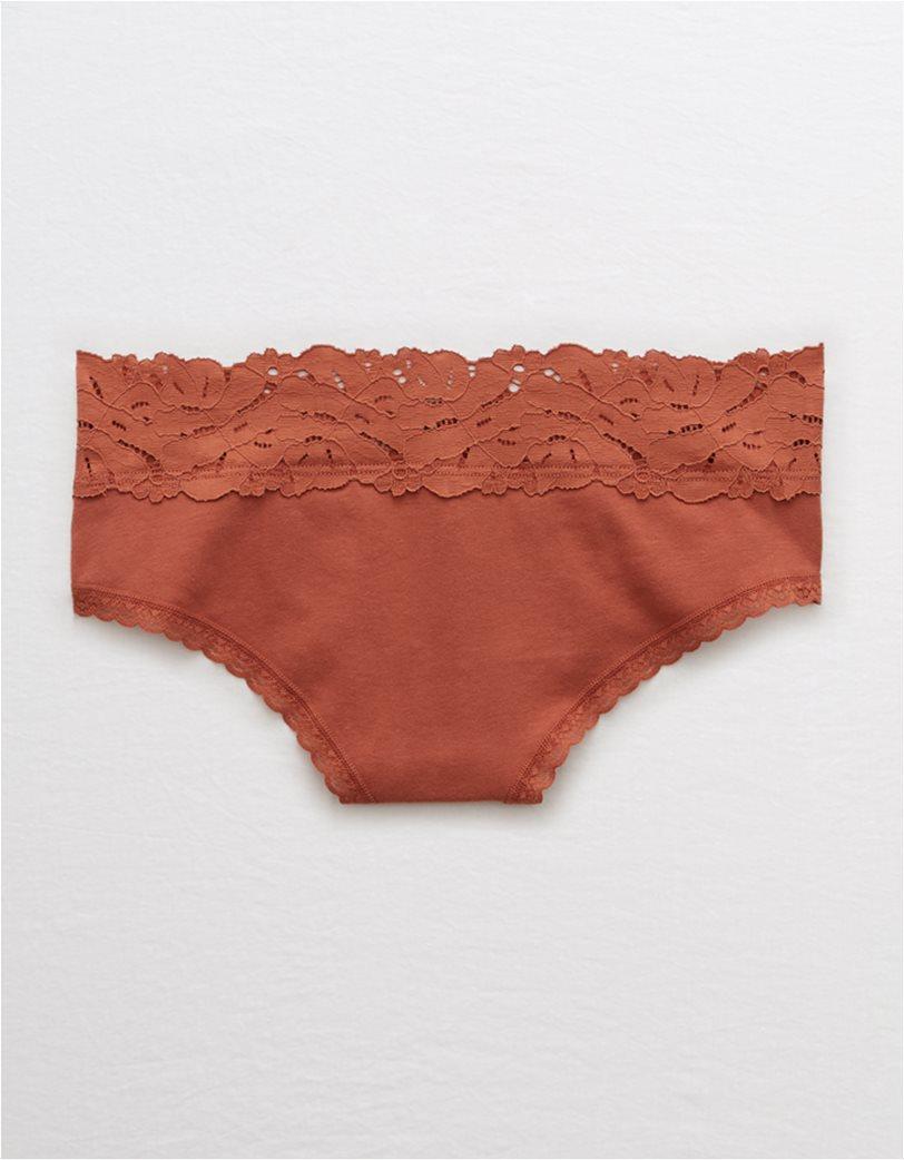 Aerie Palm Lace Cotton Cheeky Undie 1