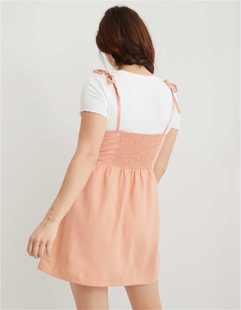 Aerie Linen Corset Dress Σομον 1