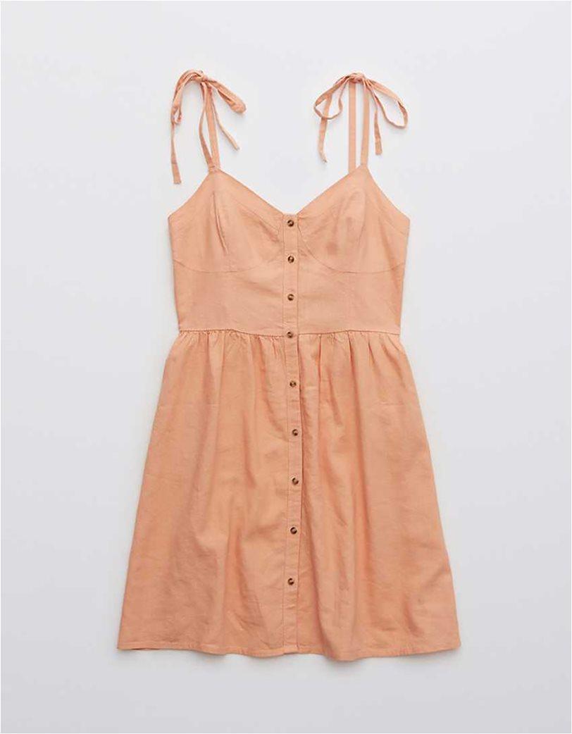 Aerie Linen Corset Dress Σομον 2