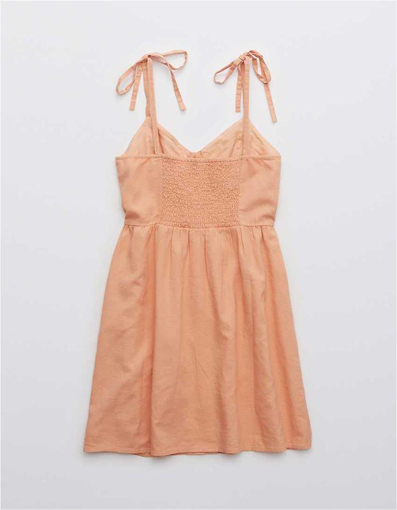 Aerie Linen Corset Dress Σομον 3