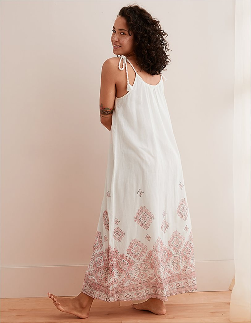 a932b8ceb2 AERIE | Aerie Printed Maxi Dress Εκρού | notos