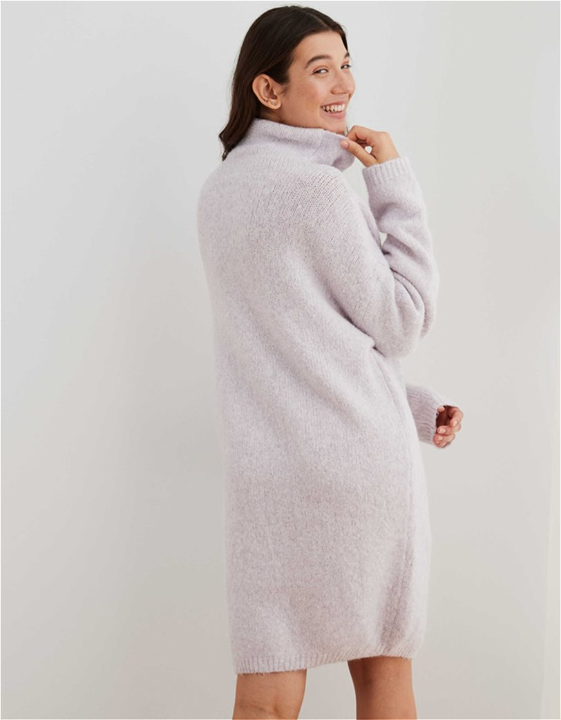 Aerie Turtleneck Sweater Dress Λιλά 1