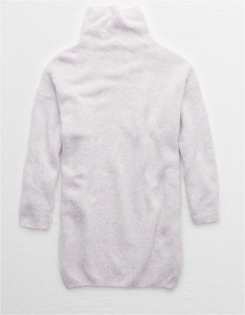 Aerie Turtleneck Sweater Dress Λιλά 3