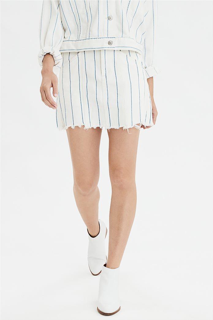AE High-Waisted Denim Mini Skirt 0