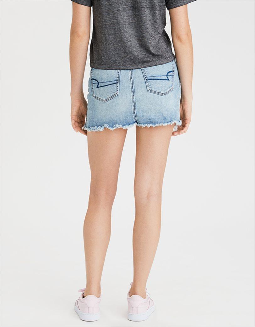High-Waisted Denim Mini Skirt 1