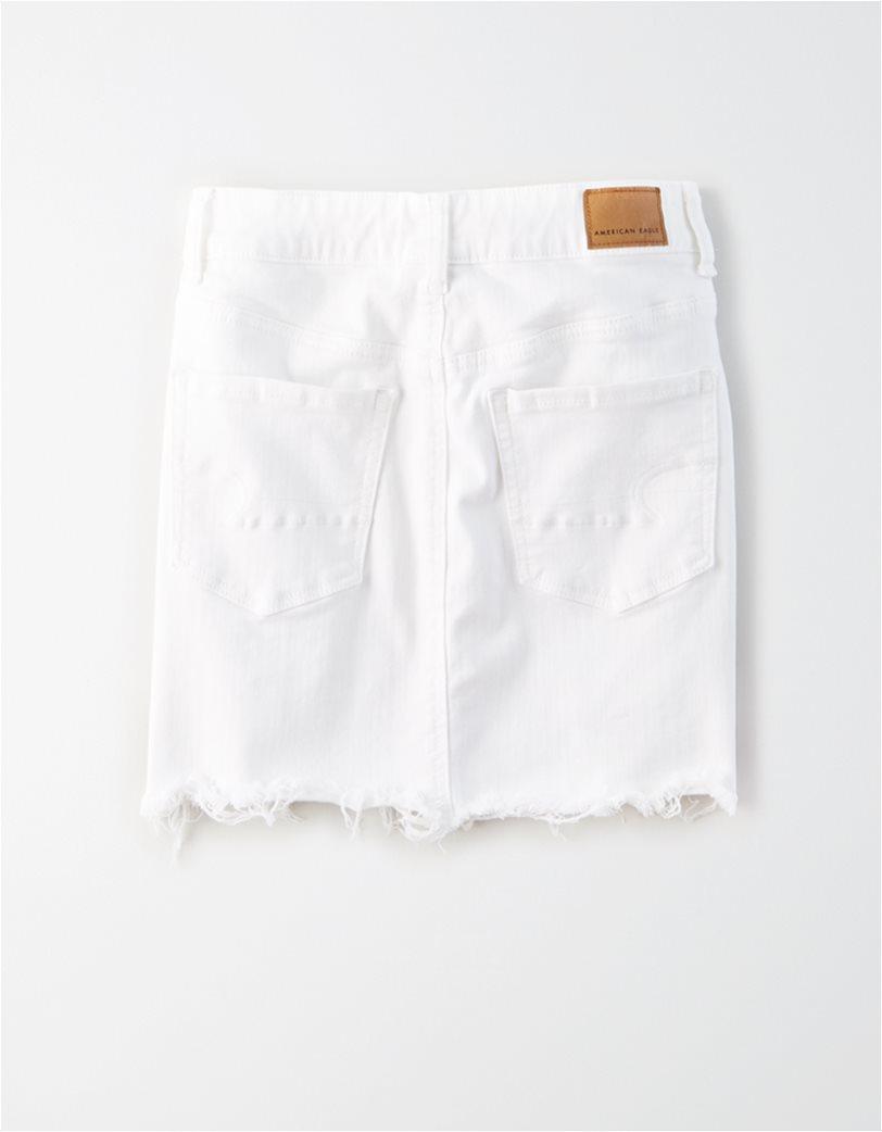 AE Ne(x)t Level High-Waisted Denim Mini Skirt Λευκό 1
