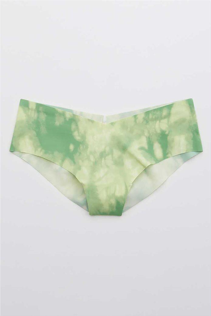 Aerie No Show Printed Cheeky Underwear Πράσινο Ανοιχτό 0