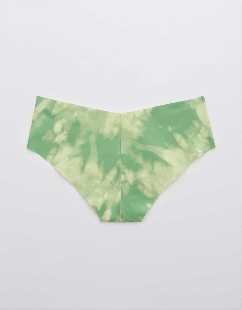 Aerie No Show Printed Cheeky Underwear Πράσινο Ανοιχτό 1