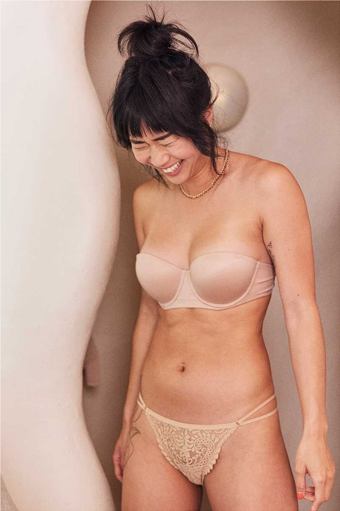Aerie Real Sunnie Strapless Lightly Lined Bra Nude 0