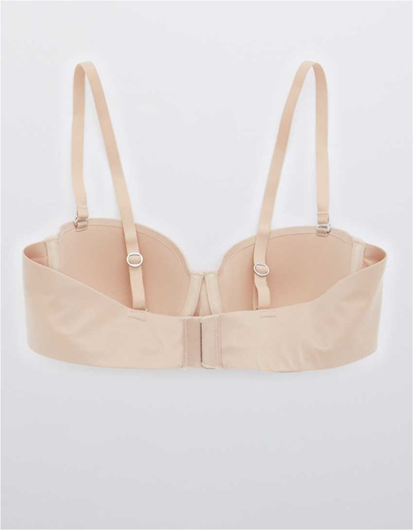 Aerie Real Sunnie Strapless Lightly Lined Bra Nude 6