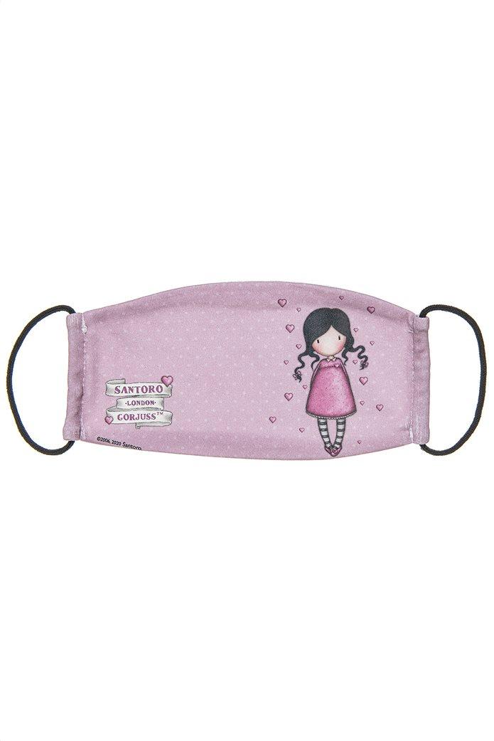 "Alouette παιδική βαμβακερή μάσκα προστασίας πουά ""Santoro"" (7-16 ετών) Πολύχρωμο 0"