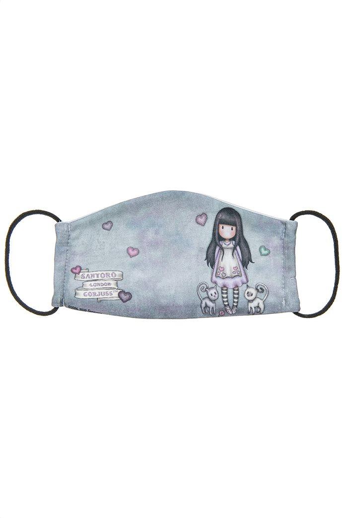 "Alouette παιδική βαμβακερή μάσκα προστασίας με γατάκια ""Santoro"" (7-16 ετών) Πολύχρωμο 0"