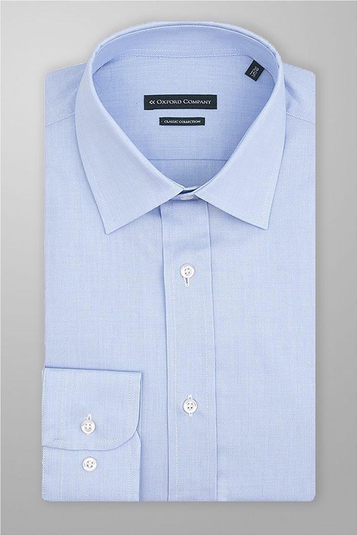 "Oxford Company ανδρικό πουκάμισο μονόχρωμο ""City"" Γαλάζιο 0"