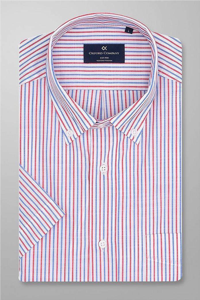 Oxford Company ανδρικό ριγέ πουκάμισο button down Πολύχρωμο 0