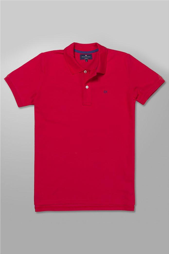 Oxford Company ανδρική πόλο μπλούζα με κεντημένο λογότυπο 0
