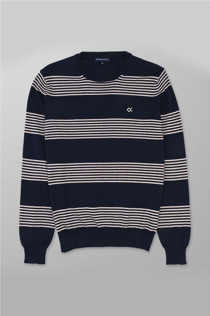 Oxford Company ανδρική πλεκτή μπλούζα με ρίγες 0